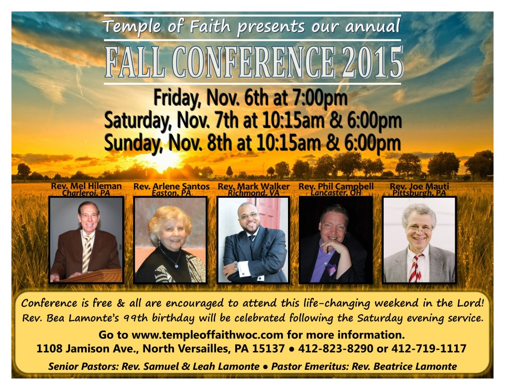 Fall Conference 2015 Flyer